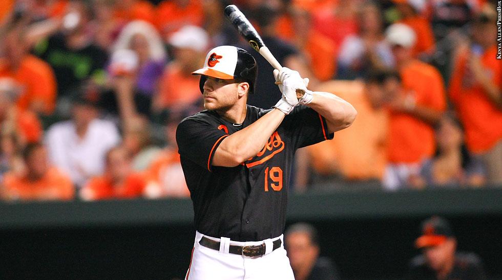 Orioles 2015: Chris Davis (at bat, black jersey)