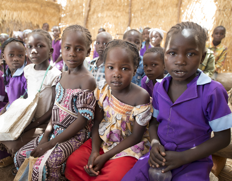 Primary school students in Cameroon