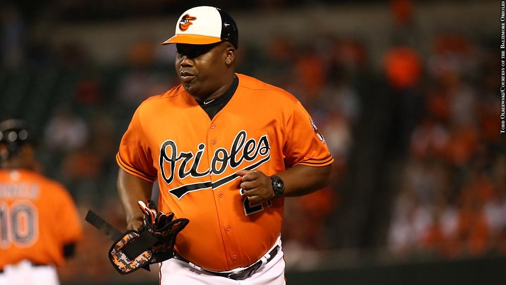 Issue 233: Orioles 2017: Wayne Kirby (orange jersey)