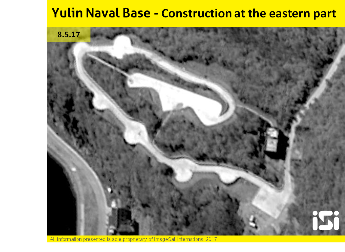 Yulin naval base eastern part construction