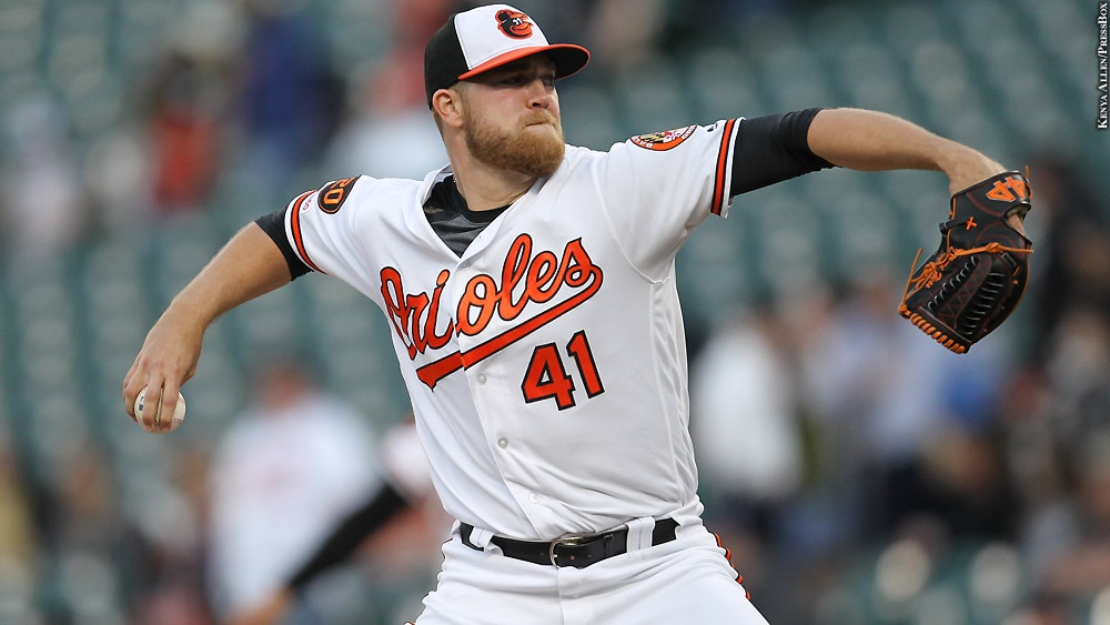 Orioles 2019: David Hess (arm out)
