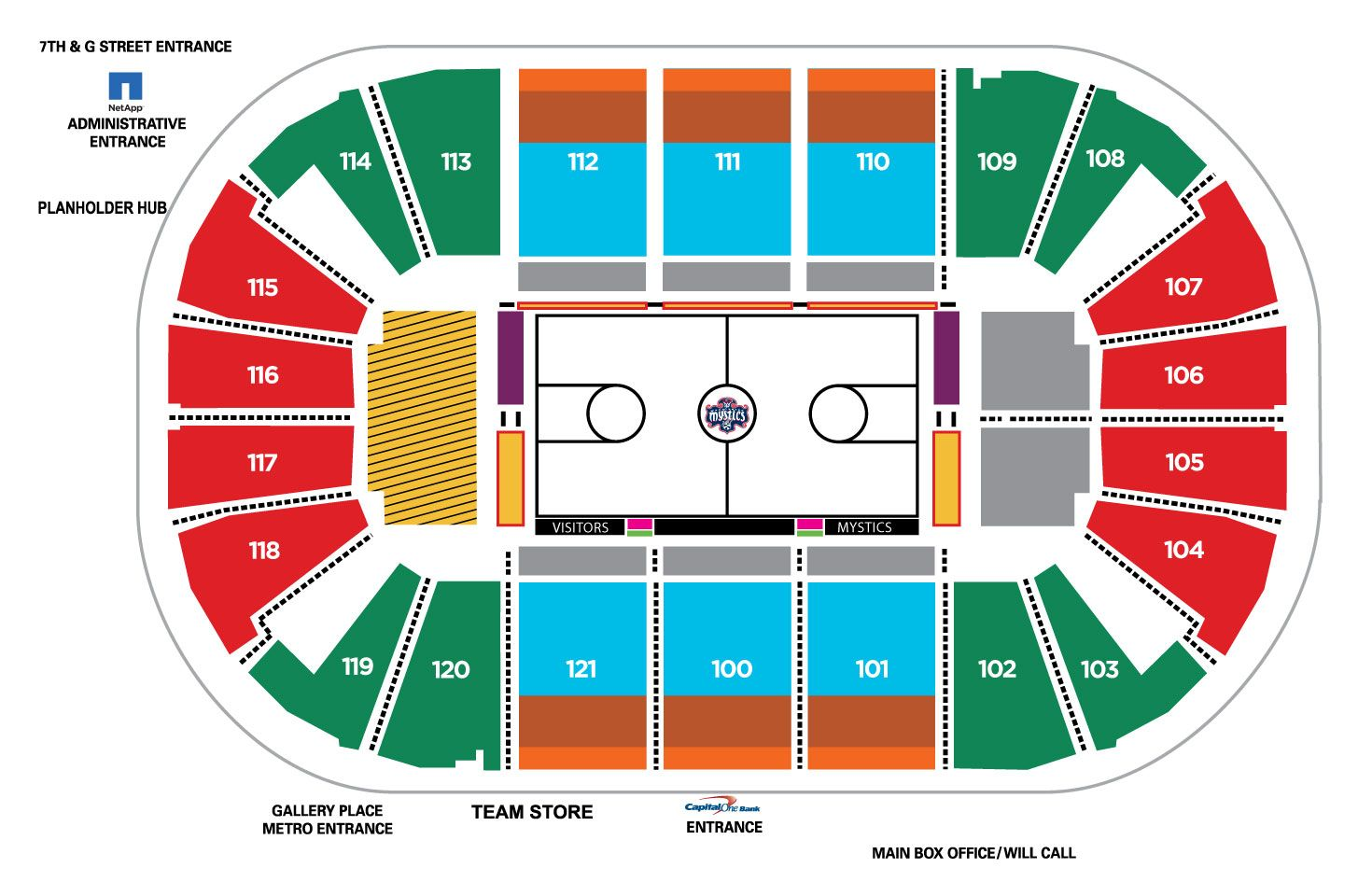 Verizon Center Seating Charts for Concerts Events Capi – Seating Chart