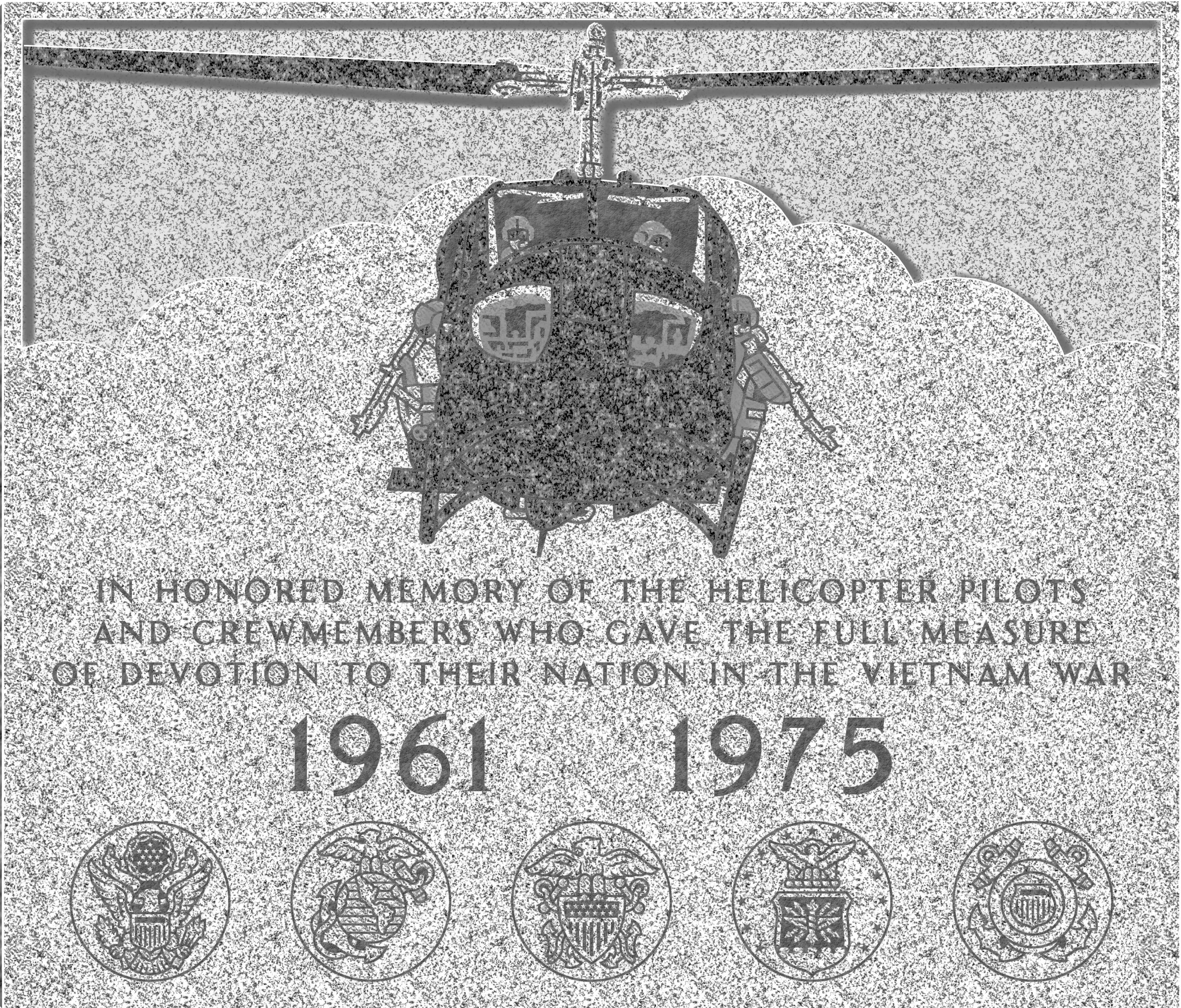 Vietnam helicopter monument