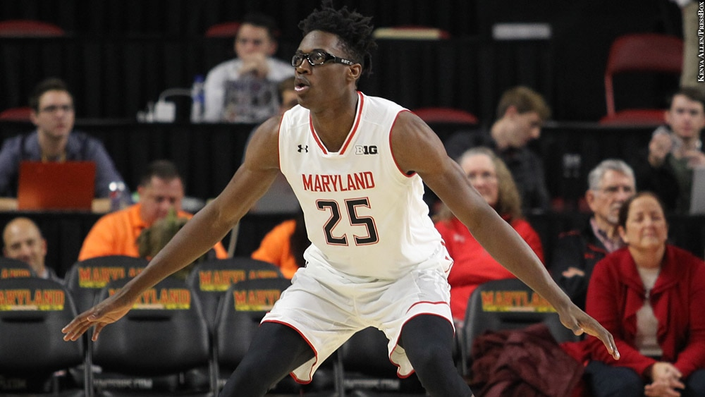 Maryland Terps Basketball 2018-19: Jalen Smith (arms out)