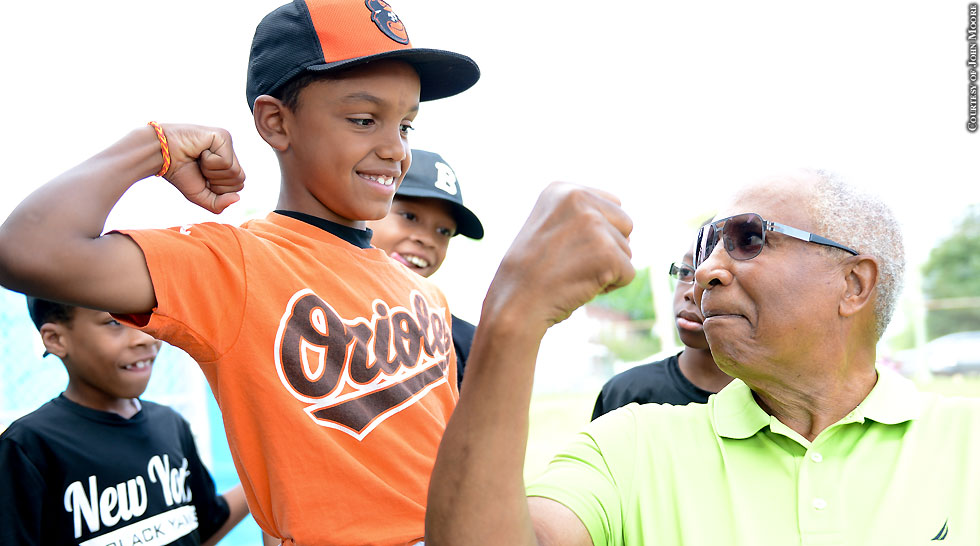 Current. Former Orioles Give Back To James Mosher Baseball Program (Frank Robinson)