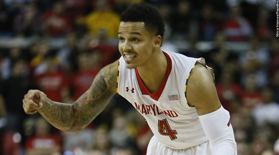 Terps Basketball 2013-14: Seth Allen (pointing)