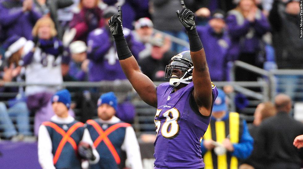 Ravens 2014: Elvis Dumervil (Week 15)