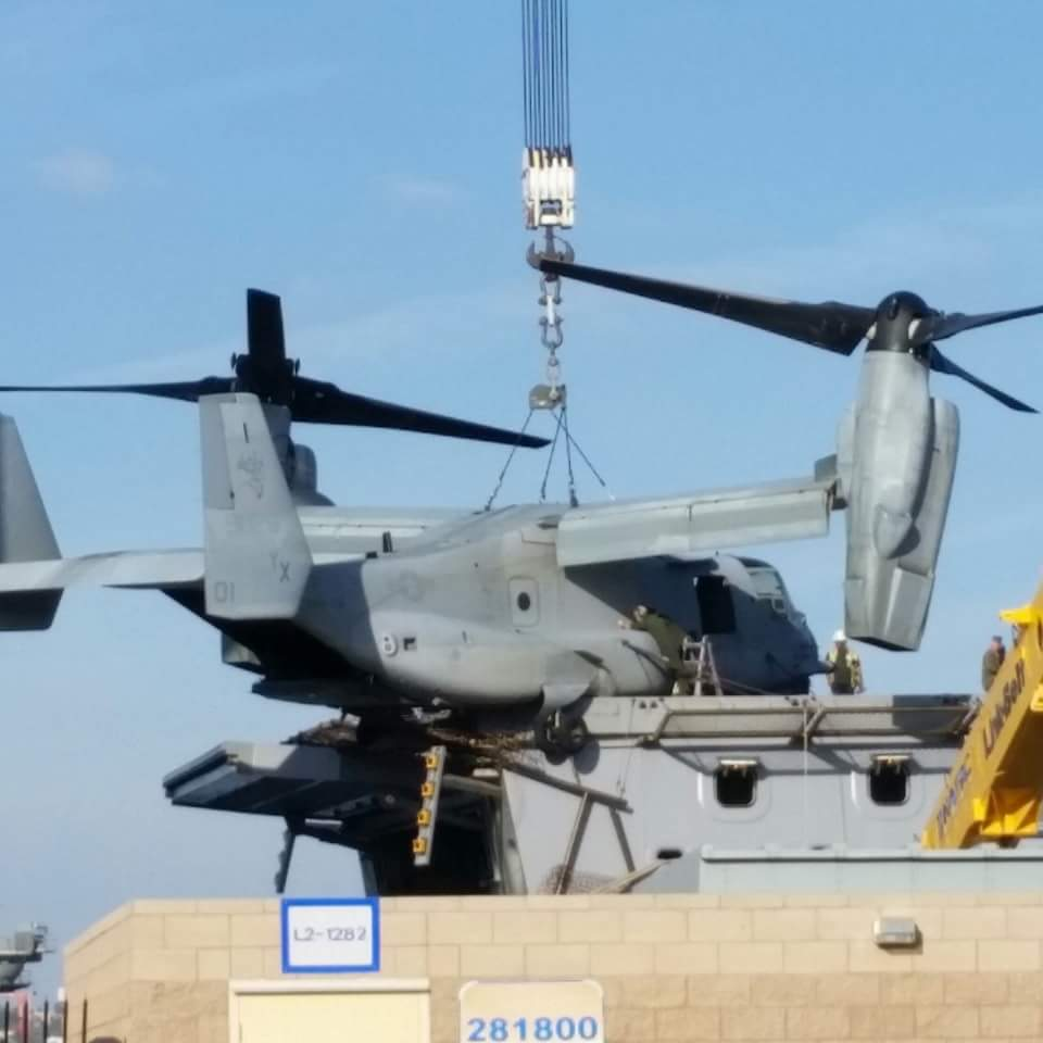 Osprey on the USS New Orleans