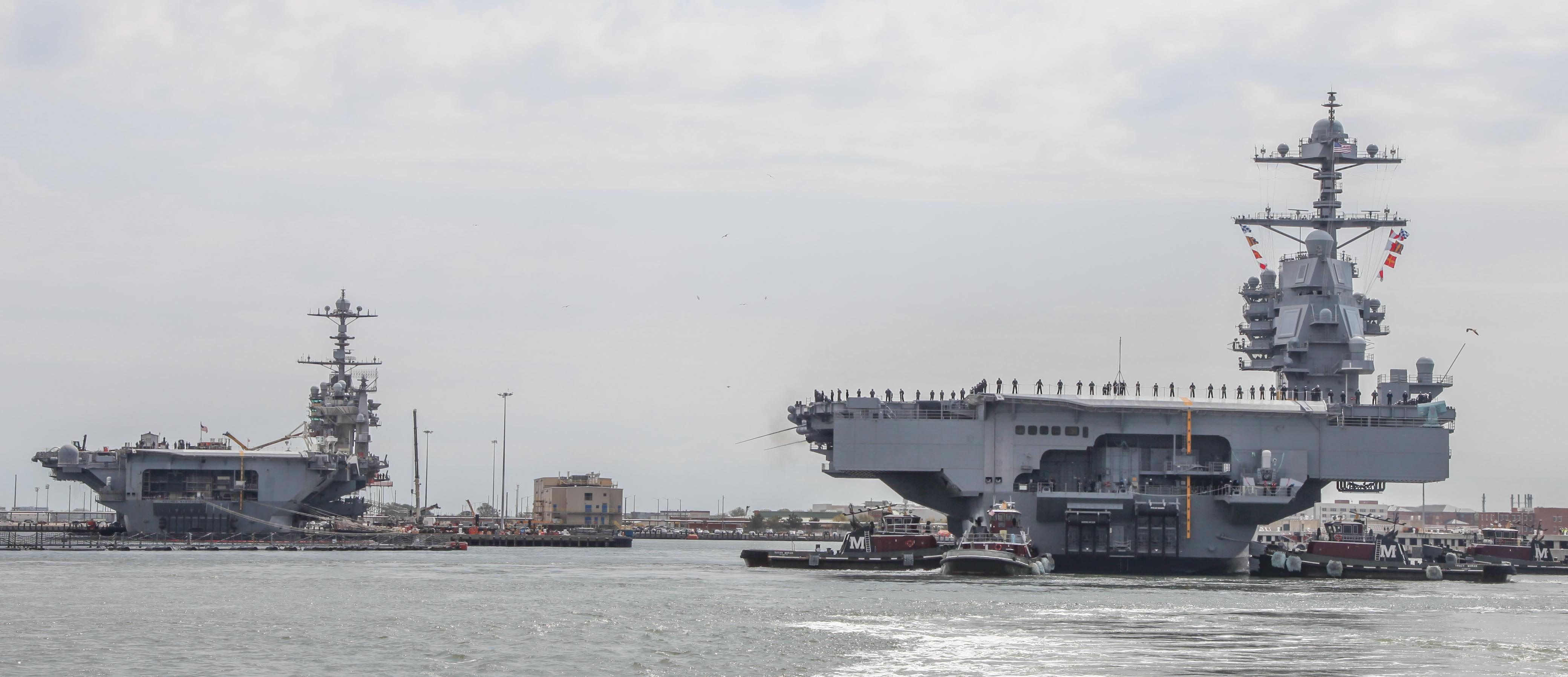 USS Gerald R. Ford Returns from Trials - 5