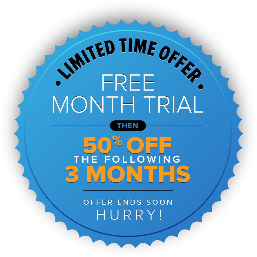 Limited Time Offer | Free Month Trial then 50% off the following 3 months | Offer ends soon Hurry!