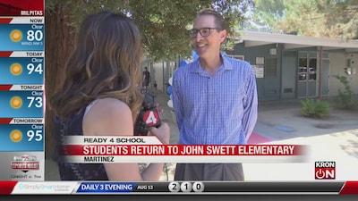 First Day of School: John Swett Elementary
