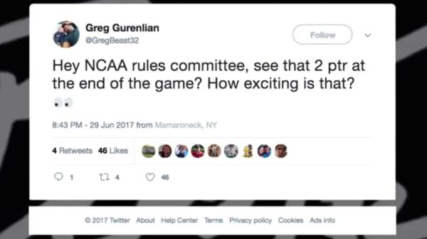 Do 2 Pointers Belong in the NCAA? Chris and Travis Discuss 6/30/17