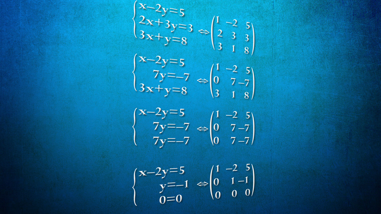Systems of Linear Equations and Matrices