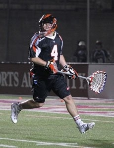 Goalie Adam Fullerton plays in the fourth quarter at Bos. (5/21).