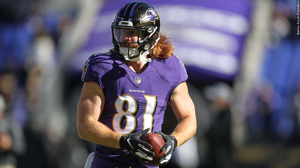 sports shoes 8b1b9 c3390 Mental Health Advocacy A Priority For Ravens' Hayden Hurst