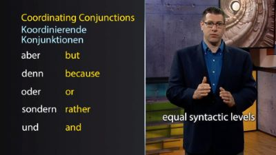 Coordinating Conjunctions and der- Words