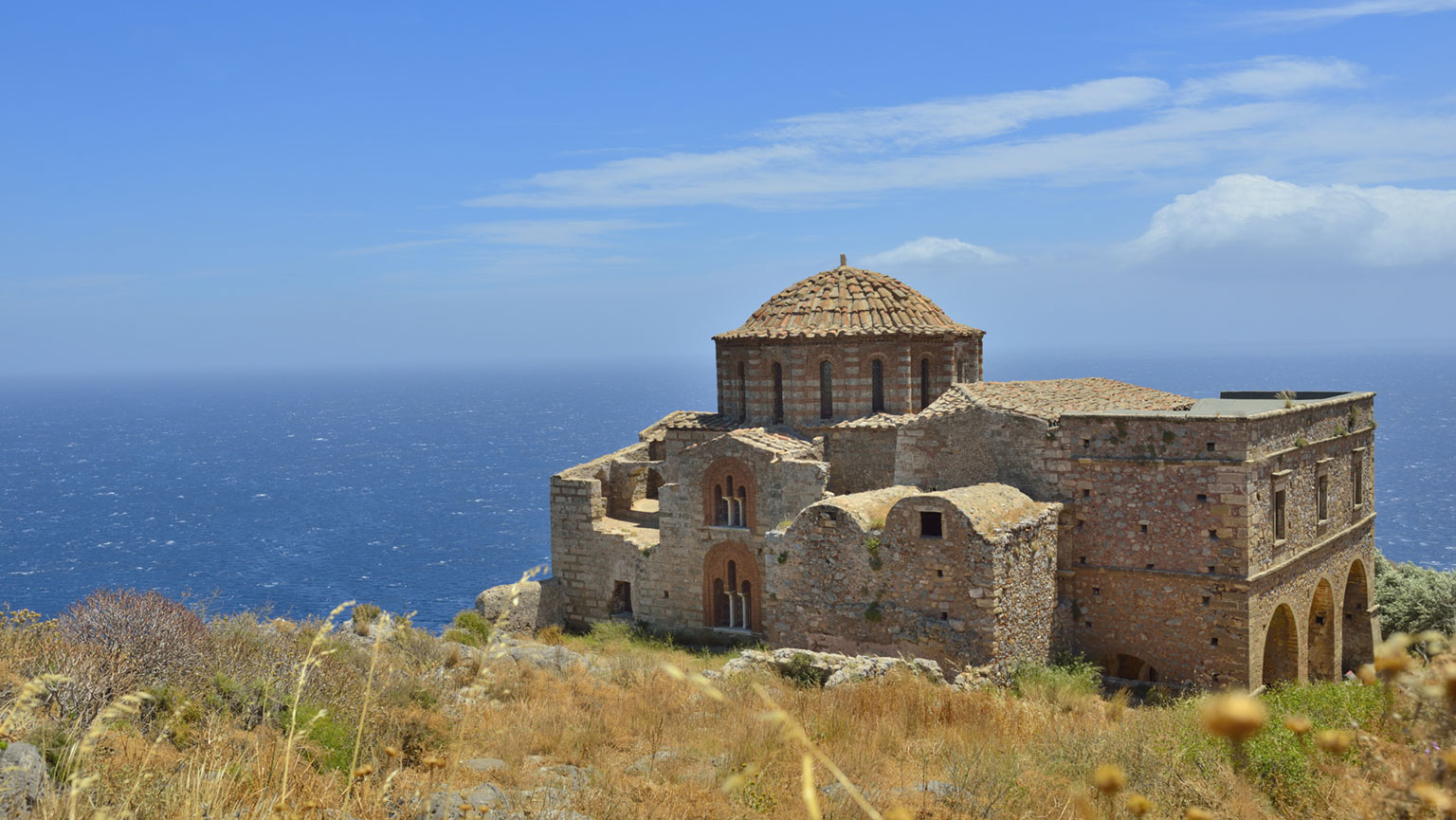 Byzantine Outposts—Monemvasia and Mistra