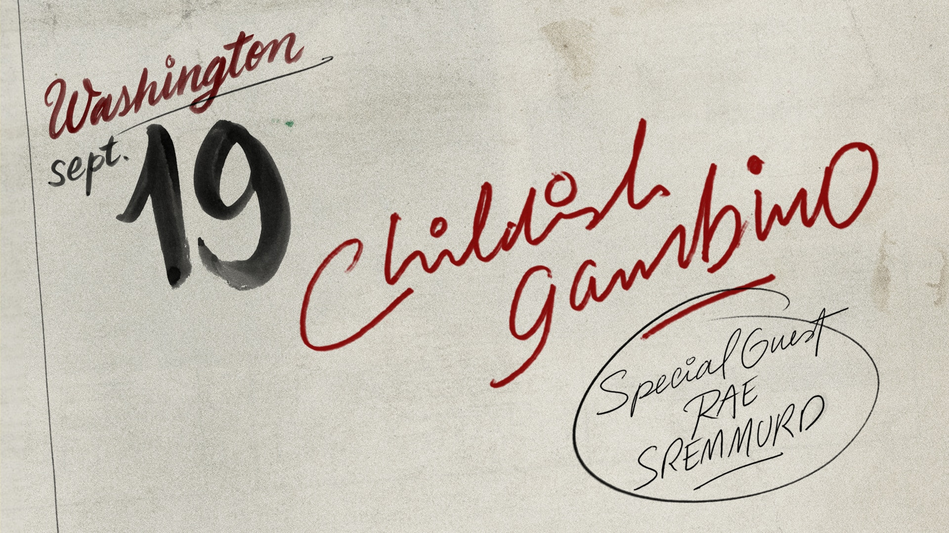 Childish Gambino 2018 North American Tour