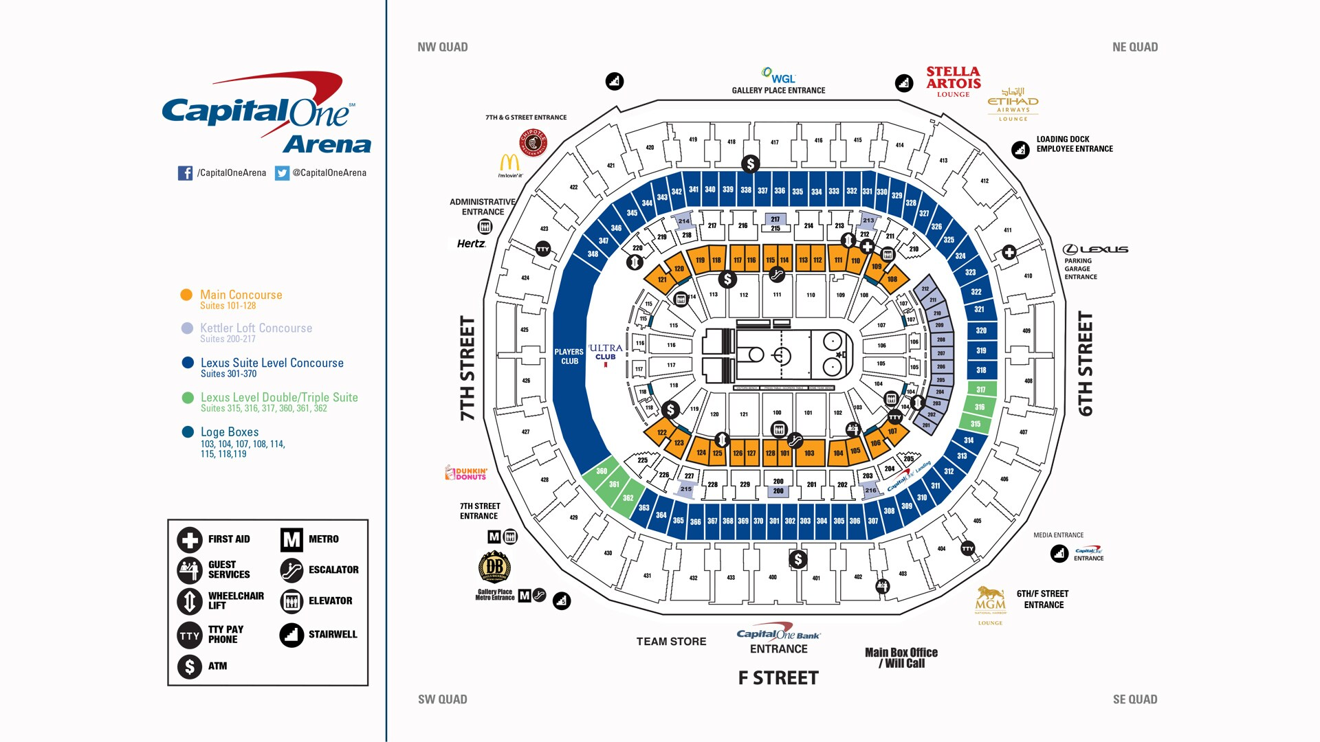 Capital One Arena Seating Charts