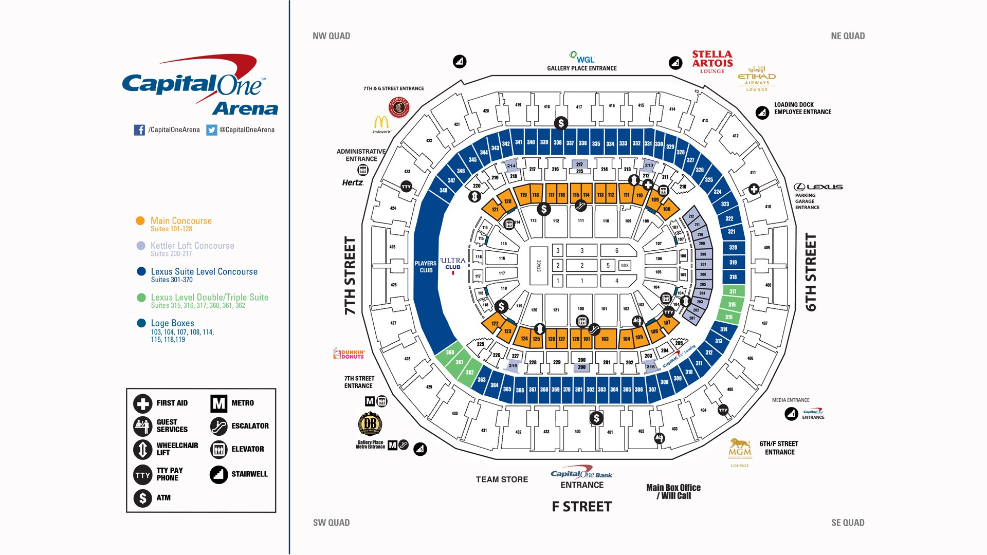 Capital One Arena Seating Charts Capital One Arena