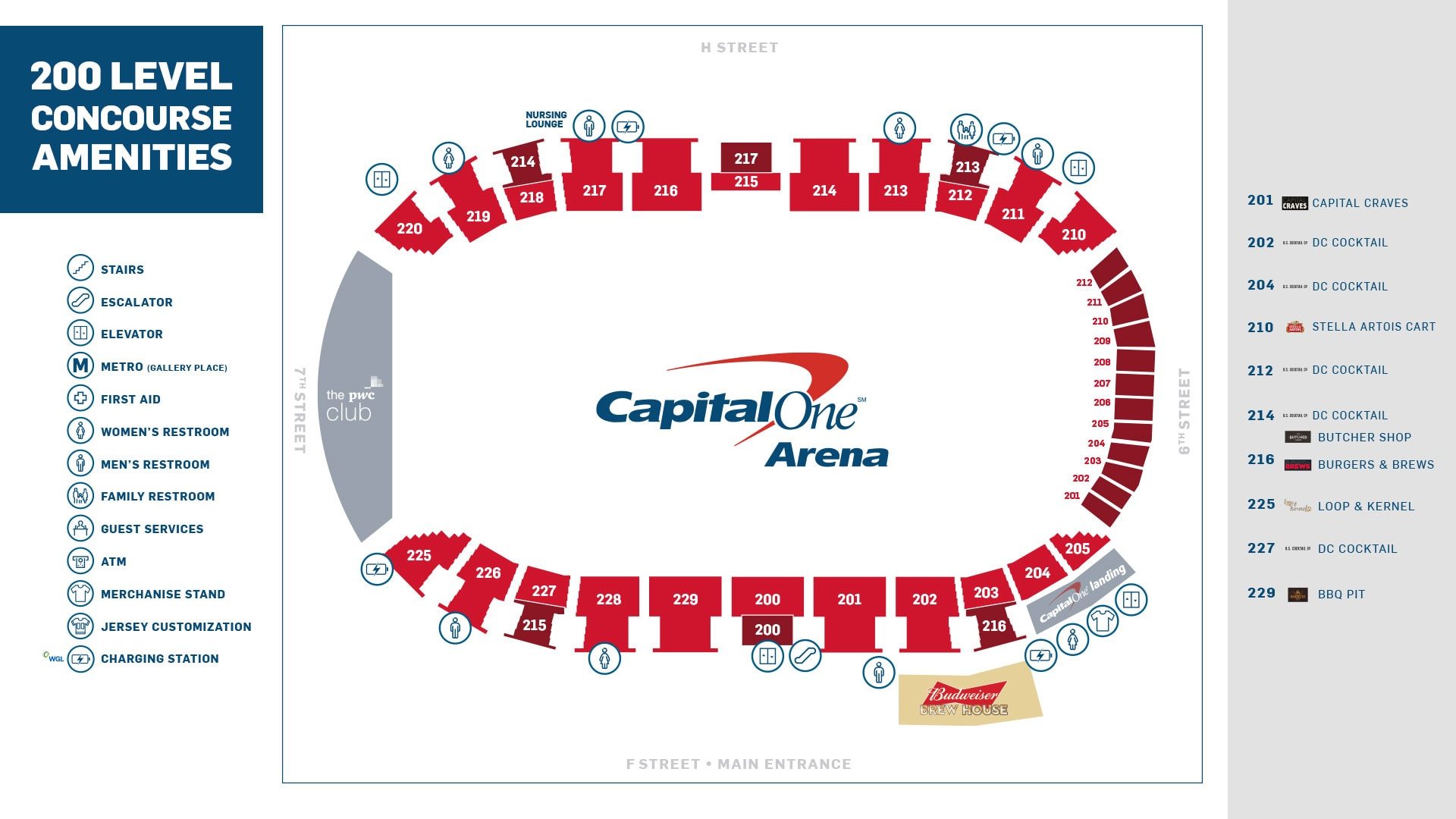 Food & Beverage Options | Capital One Arena