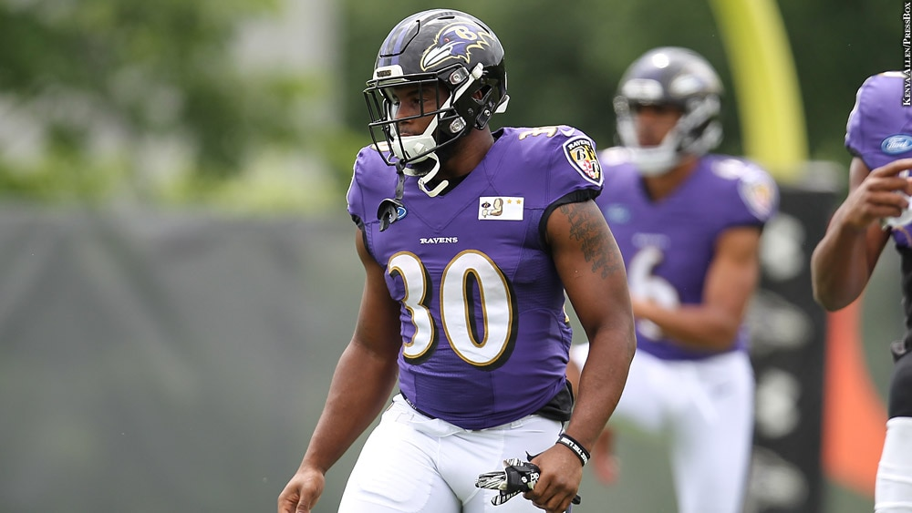 best service 7aa8d bee75 Three Players To Watch During The Ravens' Preseason Game Vs ...