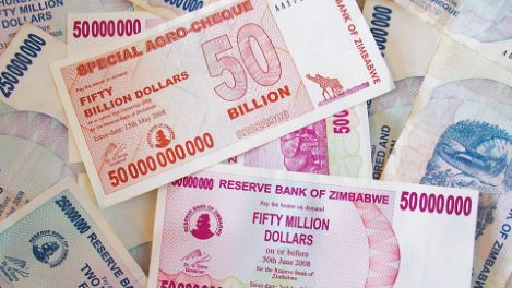Hyperinflation in Germany and Zimbabwe