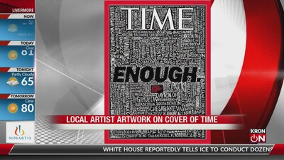 Bay Area artist's work on the cover of Times