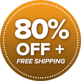 80% OFF + Free Shipping!