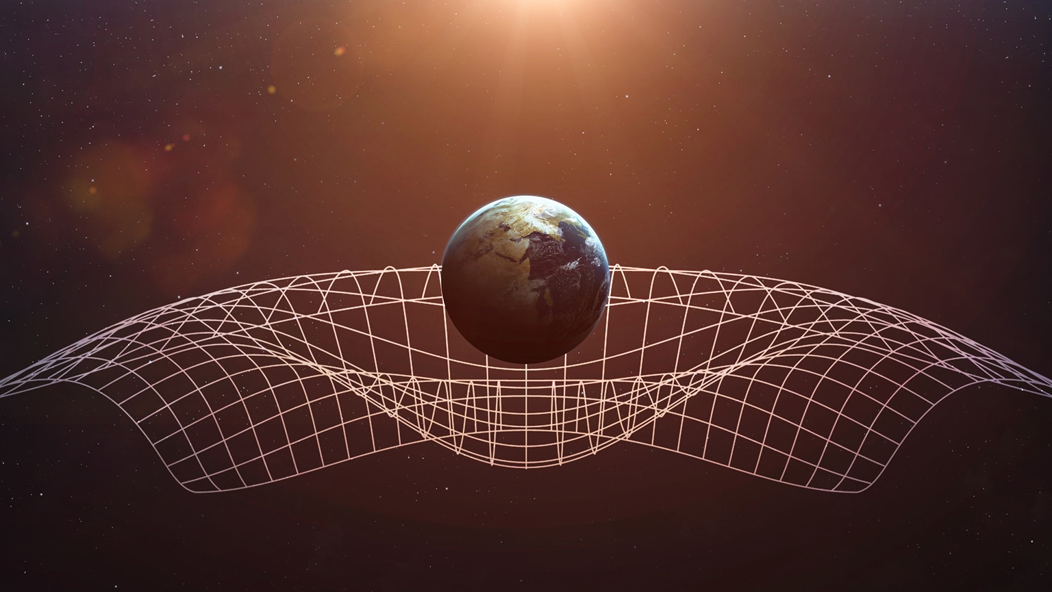 Einstein's Gravity Bends Space-Time