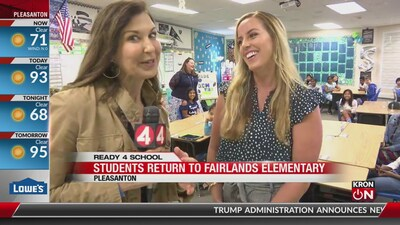 First Day of School: Fairlands Elementary in Pleasanton