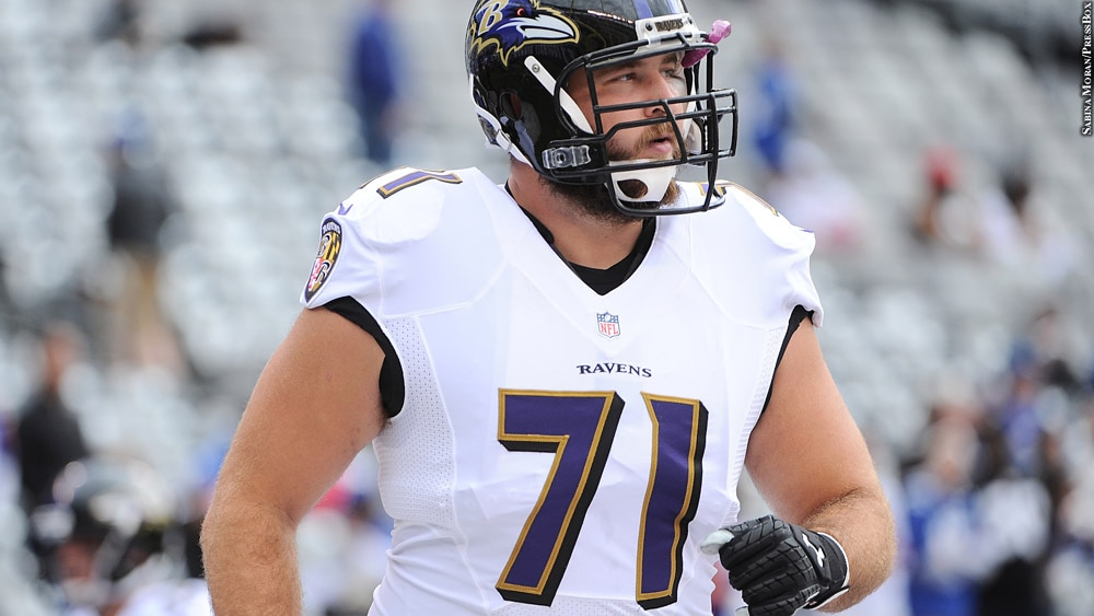 hot sale online e1fdf bbec3 Ravens Right Tackle Rick Wagner Expected To Sign With Lions