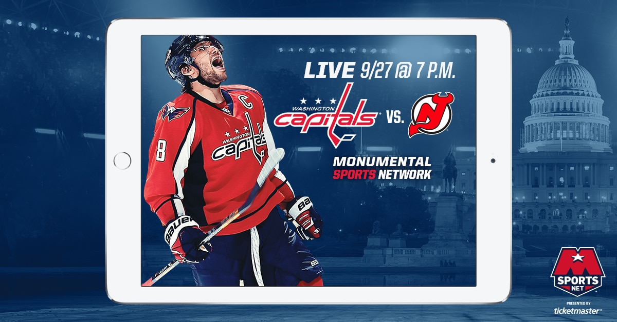 Capitals vs. Devils Preseason Live