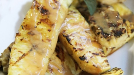 Grilled Pineapple and Banana