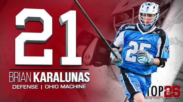 2017 #MLLTOP25 Number 21 Brian Karalunas