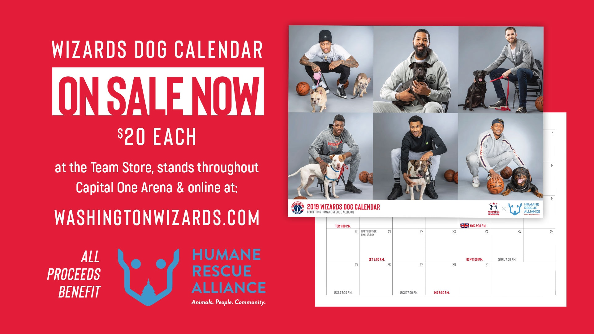 2019 wizards dog calendar on sale now monumental foundation