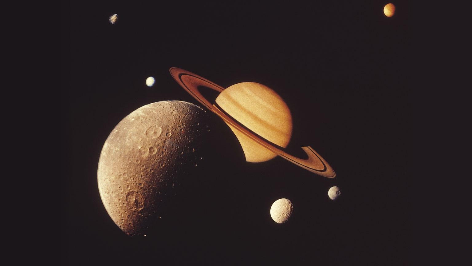 Liquid on Titan and Enceladus