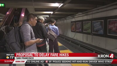 Proposal to delay BART fare hikes