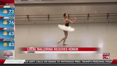 Local ballerina receives honor