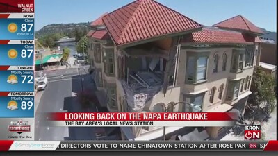 Senator Dodd looks back on Napa earthquake