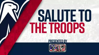 #CapsSabres Salute to the Troops 2/24/18