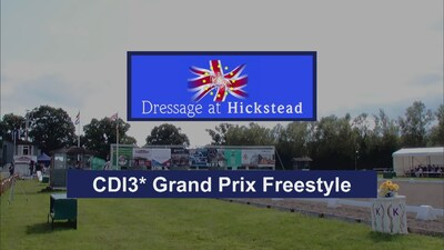 Dressage at Hickstead 2019 Intl CDI 3* Grand Prix Freestyle