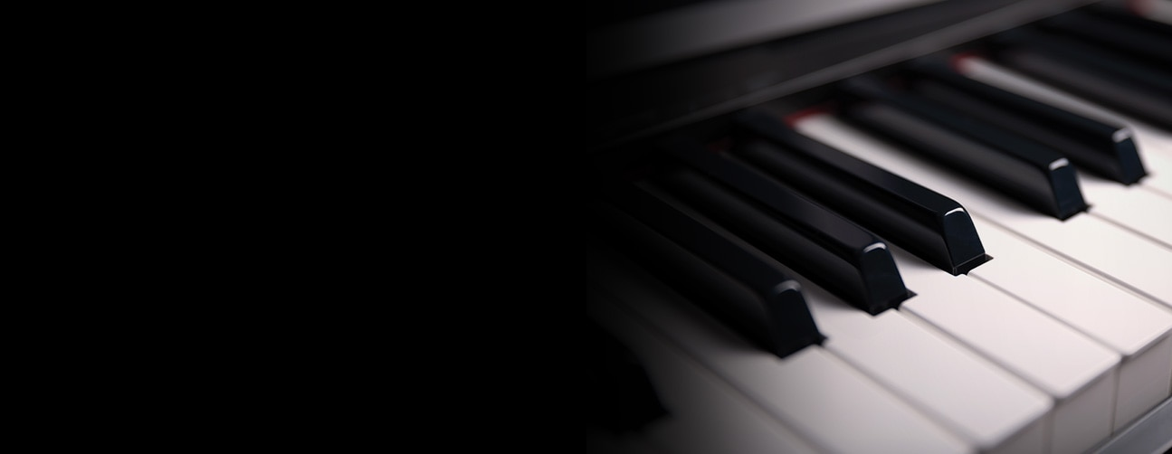 Image of piano keys close up