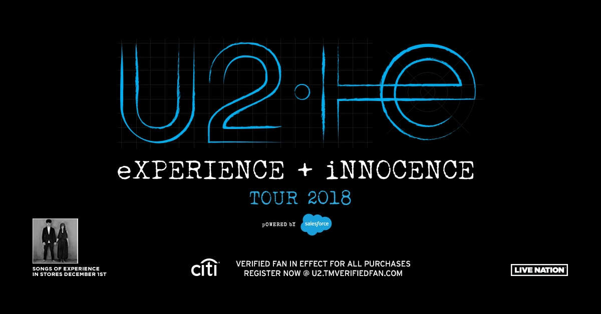 U2 The eXPERIENCE + iNNOCENCE Tour 2018
