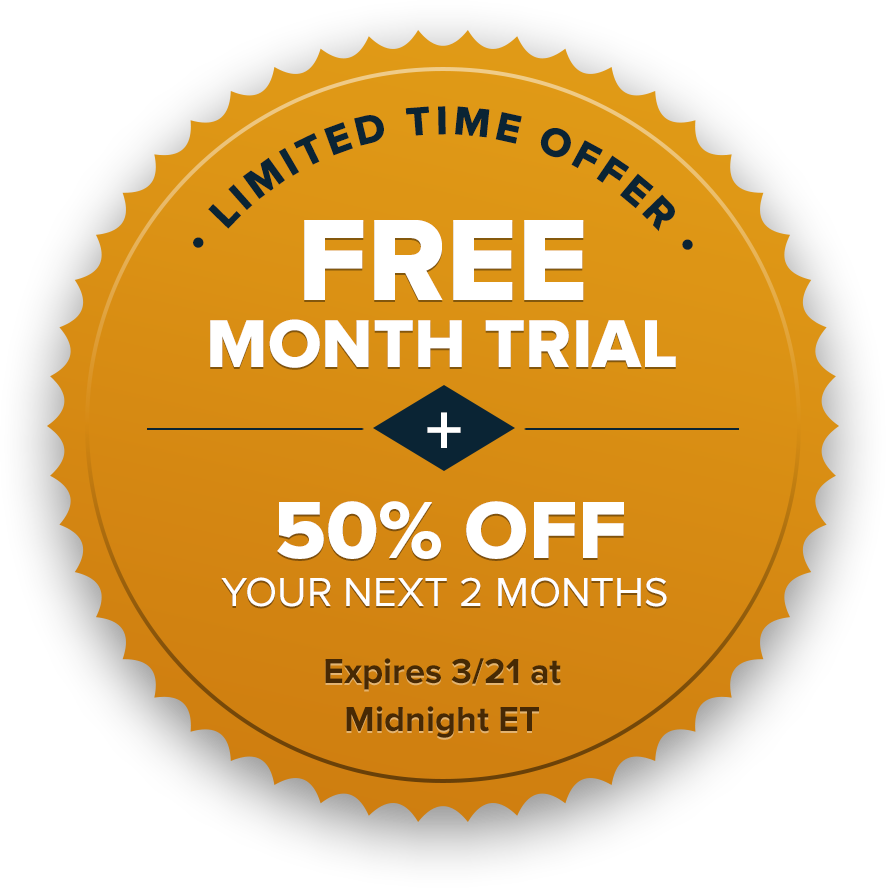 Free Month Trial plus 50% off