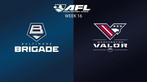 AFL Week 16: Brigade @ Valor Highlights