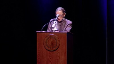 Justice Ruth Bader Ginsberg speaks at U.C. Berkeley