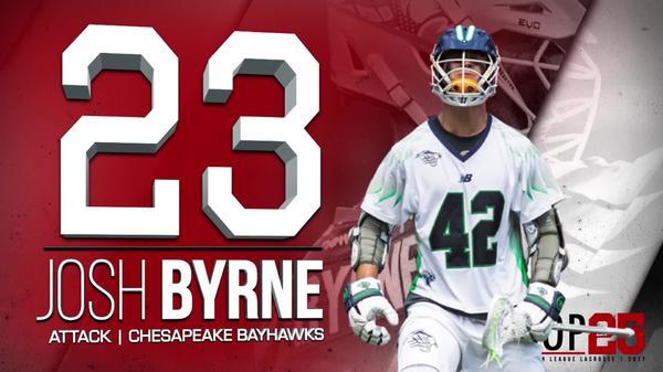 2017 #MLLTOP 25 Number 23 Josh Byrne