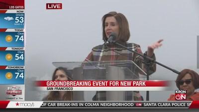 House Speaker Nancy Pelosi speaks at groundbreaking event for new SF park