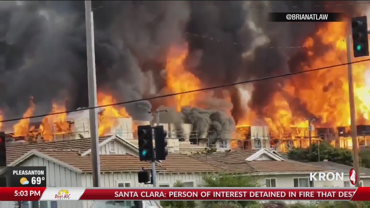 Santa Clara fire under control, person of interest detained